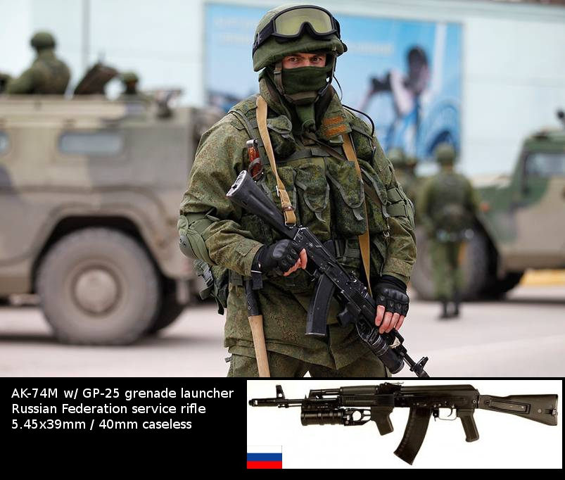 Russian Army Soldier AK 74M and GP 25 Imgur Russian Nano Armor Coming in 2015 for Future Soldier Warrior Suit, and Russian Spetsnaz (Military Special Forces) Already Running Improved 6B43 Composite Hard Armor Plates, New Plate Carriers and Combat Helmets, AK Rifle/Carbines, GM 94 Grenade Launchers and other Tactical Gear in Crimea, Ukraine