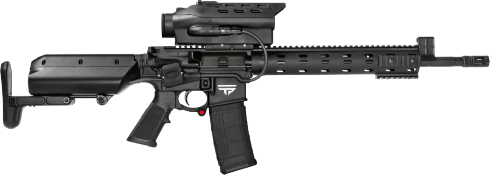 TrackingPoint TP AR 556 Precision Guided Firearm PGF 5.56mm Tactical AR 15 Carbine with TTX Smart Scope Technology 1 TrackingPoint TP AR 556 PGF (Precision Guided Firearm), TP AR 300 PGF, and TP AR 762 PGF: 5.56mm NATO/.223 Rem., 300 Blackout (300BLK) and 7.62mm NATO/.308 Win. Tactical/Battle AR Carbine/SBRs with TTX XACT Combat/Tactical Smart Scope Technology...Tag, Track and Kill Moving Targets at up to 500 750 Yards Out!