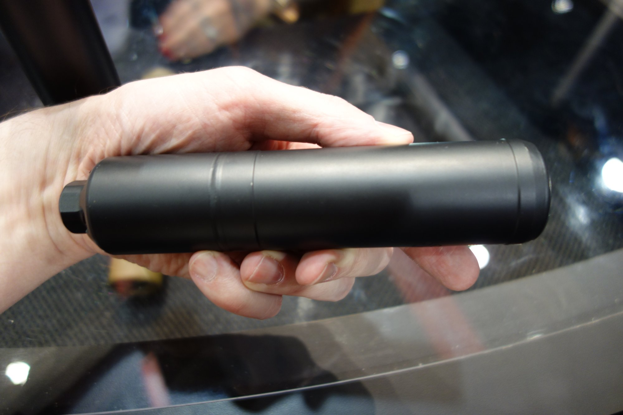 Advanced Armament Corp. AAC Ranger 3 5.56mm Direct Thread Mount Silencer Sound Suppressor Muzzle Can Demo Mike Mers SHOT Show 2014 David Crane DefenseReview.com DR 1 Latest and Greatest AAC Fast Attach Muzzle Cans (Silencers/Sound Suppressors) and 90 Tooth Mounting System: SR 5/SR 7, AAC 762 SDN 6, AAC 556 SD/762 SD, 90 Tooth BLACKOUT Flash Hider/Suppressor Mount, and AAC Ranger 3 Direct Thread Screw On Can (Video!)