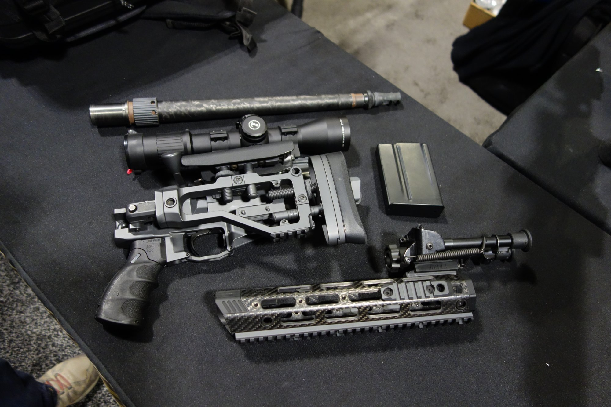 Remington Defense CSR Concealable Sniper Rifle Rucksack Rifle Breakdown Takedown Suppressed Sniper Carbine with Proof Research 16 inch Carbone Fiber Wrapped Barrel NDIA SOFIC 2014 David Crane DefenseReview.com DR 14 Remington Defense CSR (Concealable Sniper Rifle) Rucksack Rifle: Lightweight, Compact 7.62mm NATO/.308 Win. Bolt Action Breakdown/Takedown Suppressed Sniper Carbine with 14 16 Proof Research Carbon Fiber Wrapped Barrel for Your Backpack! (Video!)