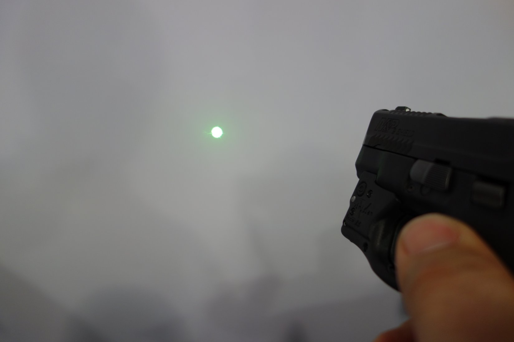 Viridian Green Laser Sights VGLS C5L C5L R Tactical Aiming Laser Sight Tactical White Light Innovative GunFighter Solutions Smith  Wesson MP Shield Sub Compact Pistol SHOT Show 2014 David Crane DefenseReview.com DR 5 Viridian Green Laser Sights (VGLS) X5L, X5L R, C5L, C5L R and Reactor/R5 Tactical Aiming Laser Sight (Green and Red Laser)/Tactical White Light Modules for Combat/Tactical Pistols (Video!)