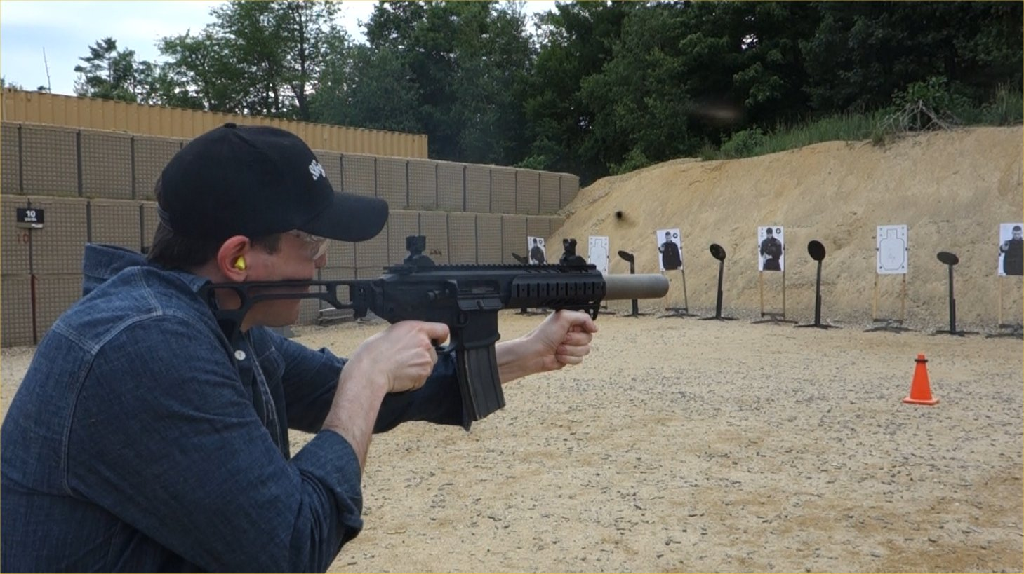 SIG SAUER SIG MCX Multi Caliber AR Assault Rifle Carbine SBR 300 Blackout 300BLK Suppressed David Crane Firing on Full Auto SIG SAUER New Media Writers Event DefenseReview.com DR 1 SIG MCX LVAW (Low Visibility Assault Weapon) Black Mamba Suppressed 300 Blackout (300BLK) Piston AR Assault SBR/PDW (Short Barreled Rifle/Personal Defense Weapon) Fired on Full Auto and Semi Auto with Subsonic and Supersonic Ammo During SIG SAUER New Media Writers Event (Video!)