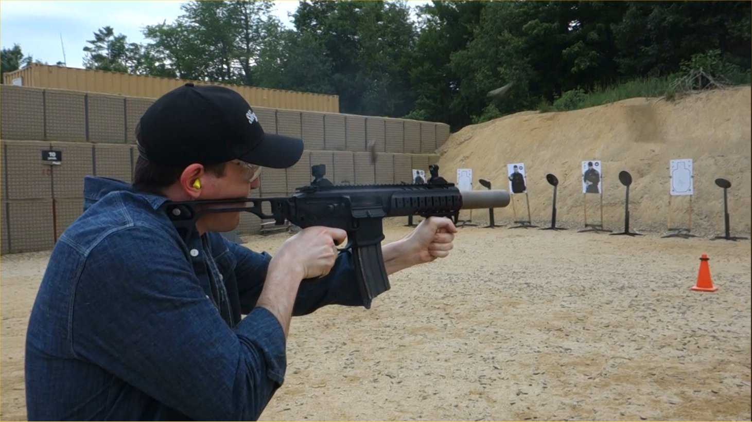 SIG SAUER SIG MCX Multi Caliber AR Assault Rifle Carbine SBR 300 Blackout 300BLK Suppressed David Crane Firing on Full Auto SIG SAUER New Media Writers Event DefenseReview.com DR 2 SIG MCX LVAW (Low Visibility Assault Weapon) Black Mamba Suppressed 300 Blackout (300BLK) Piston AR Assault SBR/PDW (Short Barreled Rifle/Personal Defense Weapon) Fired on Full Auto and Semi Auto with Subsonic and Supersonic Ammo During SIG SAUER New Media Writers Event (Video!)