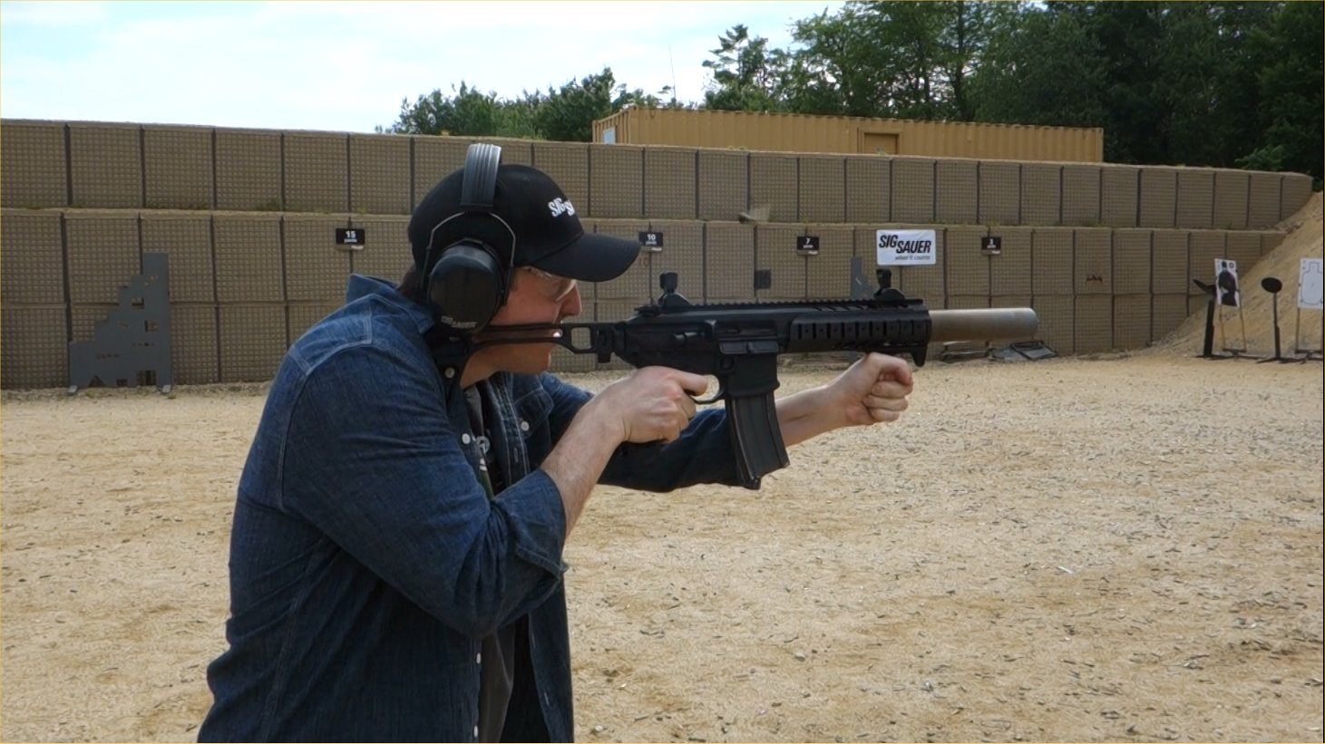 SIG SAUER SIG MCX Multi Caliber AR Assault Rifle Carbine SBR 300 Blackout 300BLK Suppressed David Crane Firing on Full Auto SIG SAUER New Media Writers Event DefenseReview.com DR 11 SIG MCX LVAW (Low Visibility Assault Weapon) Black Mamba Suppressed 300 Blackout (300BLK) Piston AR Assault SBR/PDW (Short Barreled Rifle/Personal Defense Weapon) Fired on Full Auto and Semi Auto with Subsonic and Supersonic Ammo During SIG SAUER New Media Writers Event (Video!)