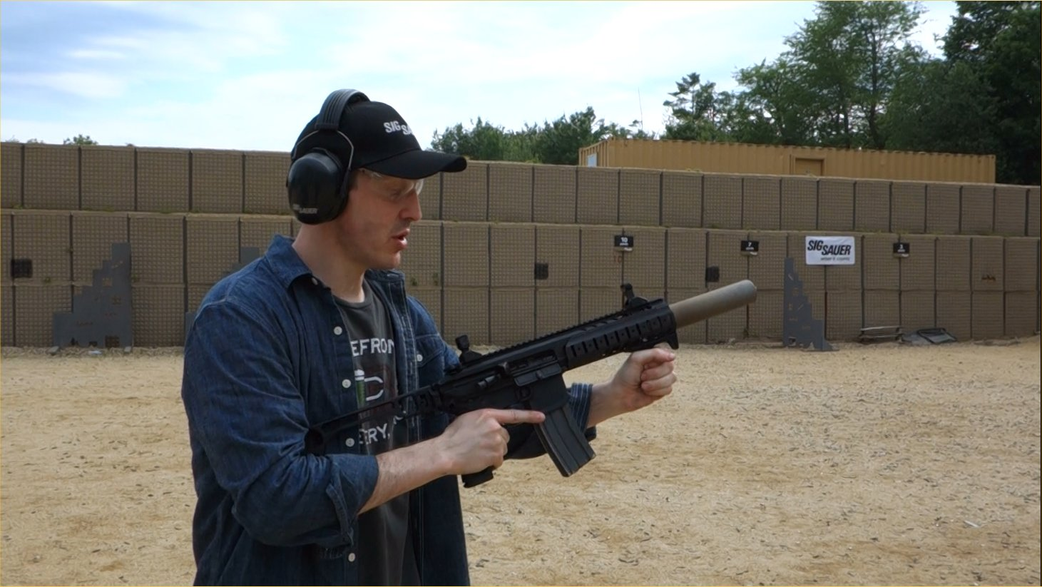 SIG SAUER SIG MCX Multi Caliber AR Assault Rifle Carbine SBR 300 Blackout 300BLK Suppressed David Crane Firing on Full Auto SIG SAUER New Media Writers Event DefenseReview.com DR 3 SIG MCX LVAW (Low Visibility Assault Weapon) Black Mamba Suppressed 300 Blackout (300BLK) Piston AR Assault SBR/PDW (Short Barreled Rifle/Personal Defense Weapon) Fired on Full Auto and Semi Auto with Subsonic and Supersonic Ammo During SIG SAUER New Media Writers Event (Video!)