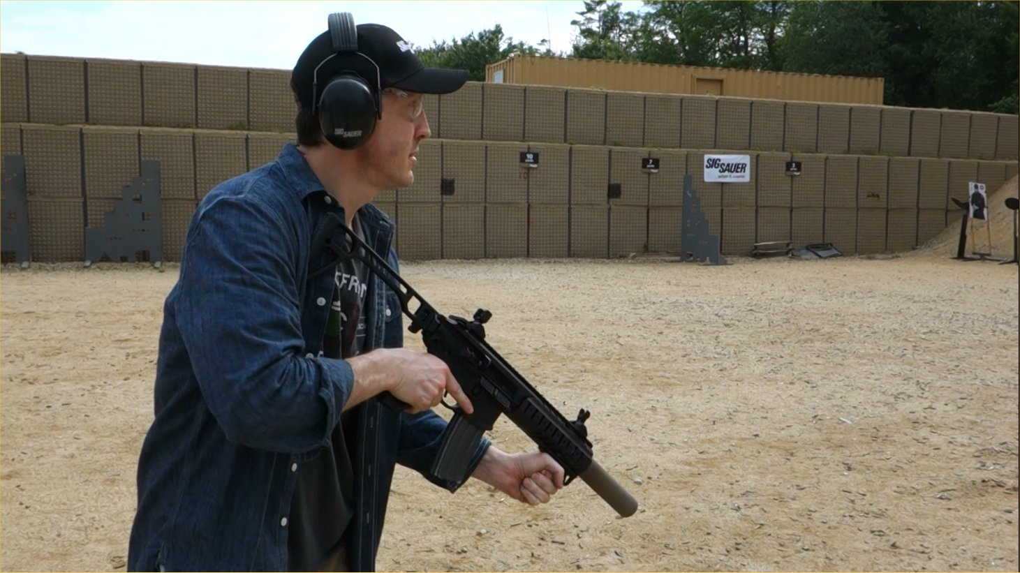 SIG SAUER SIG MCX Multi Caliber AR Assault Rifle Carbine SBR 300 Blackout 300BLK Suppressed David Crane Firing on Full Auto SIG SAUER New Media Writers Event DefenseReview.com DR 5 SIG MCX LVAW (Low Visibility Assault Weapon) Black Mamba Suppressed 300 Blackout (300BLK) Piston AR Assault SBR/PDW (Short Barreled Rifle/Personal Defense Weapon) Fired on Full Auto and Semi Auto with Subsonic and Supersonic Ammo During SIG SAUER New Media Writers Event (Video!)