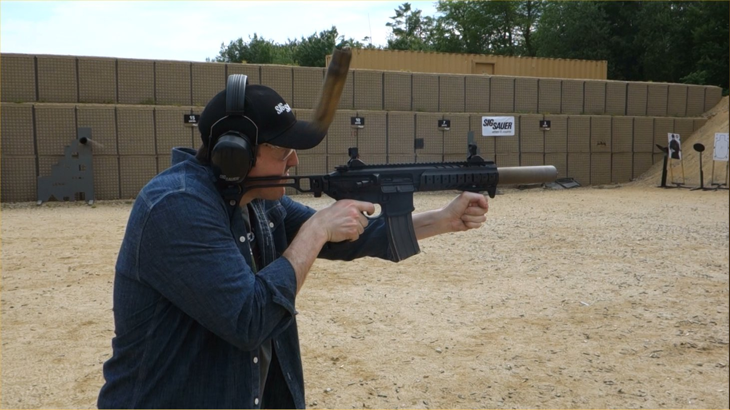 SIG SAUER SIG MCX Multi Caliber AR Assault Rifle Carbine SBR 300 Blackout 300BLK Suppressed David Crane Firing on Full Auto SIG SAUER New Media Writers Event DefenseReview.com DR 8 SIG MCX LVAW (Low Visibility Assault Weapon) Black Mamba Suppressed 300 Blackout (300BLK) Piston AR Assault SBR/PDW (Short Barreled Rifle/Personal Defense Weapon) Fired on Full Auto and Semi Auto with Subsonic and Supersonic Ammo During SIG SAUER New Media Writers Event (Video!)