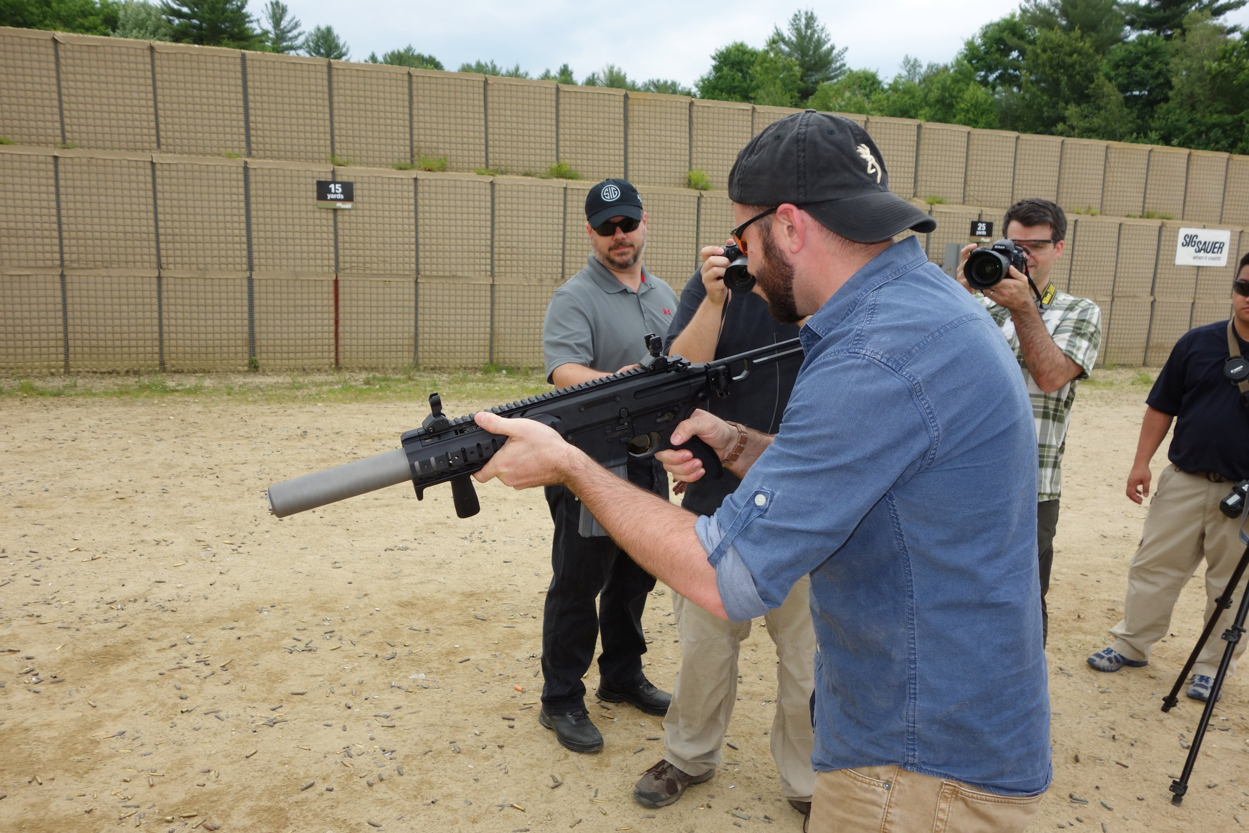 SIG SAUER SIG MCX Multi Caliber AR Assault Rifle Carbine SBR 300 Blackout 300BLK Suppressed SIG SAUER Academy New Media Writers Event 2014 David Crane DefenseReview.com DR 1 SIG MCX LVAW (Low Visibility Assault Weapon) Black Mamba Suppressed 300 Blackout (300BLK) Piston AR Assault SBR/PDW (Short Barreled Rifle/Personal Defense Weapon) Fired on Full Auto and Semi Auto with Subsonic and Supersonic Ammo During SIG SAUER New Media Writers Event (Video!)