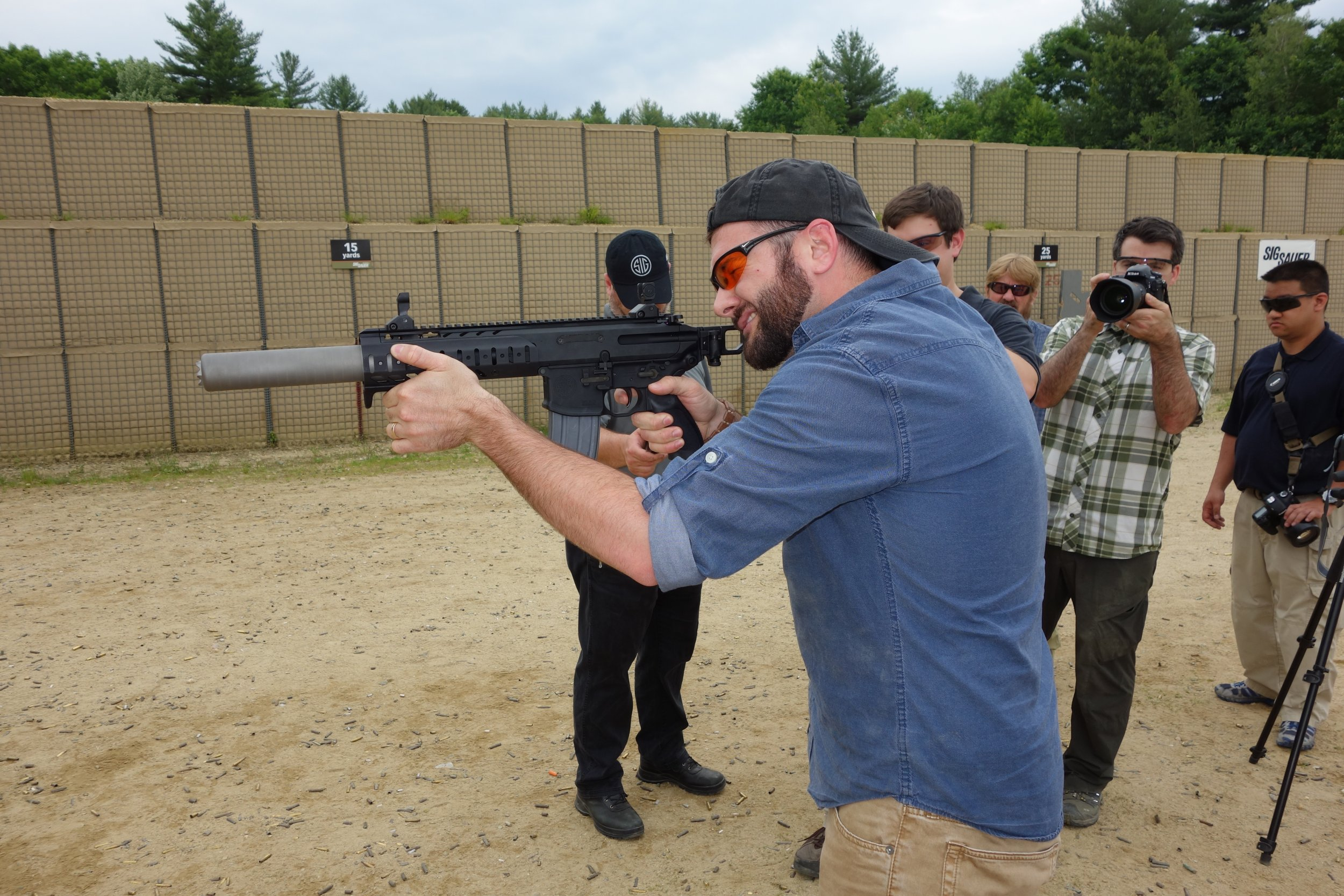 SIG SAUER SIG MCX Multi Caliber AR Assault Rifle Carbine SBR 300 Blackout 300BLK Suppressed SIG SAUER Academy New Media Writers Event 2014 David Crane DefenseReview.com DR 2 SIG MCX LVAW (Low Visibility Assault Weapon) Black Mamba Suppressed 300 Blackout (300BLK) Piston AR Assault SBR/PDW (Short Barreled Rifle/Personal Defense Weapon) Fired on Full Auto and Semi Auto with Subsonic and Supersonic Ammo During SIG SAUER New Media Writers Event (Video!)
