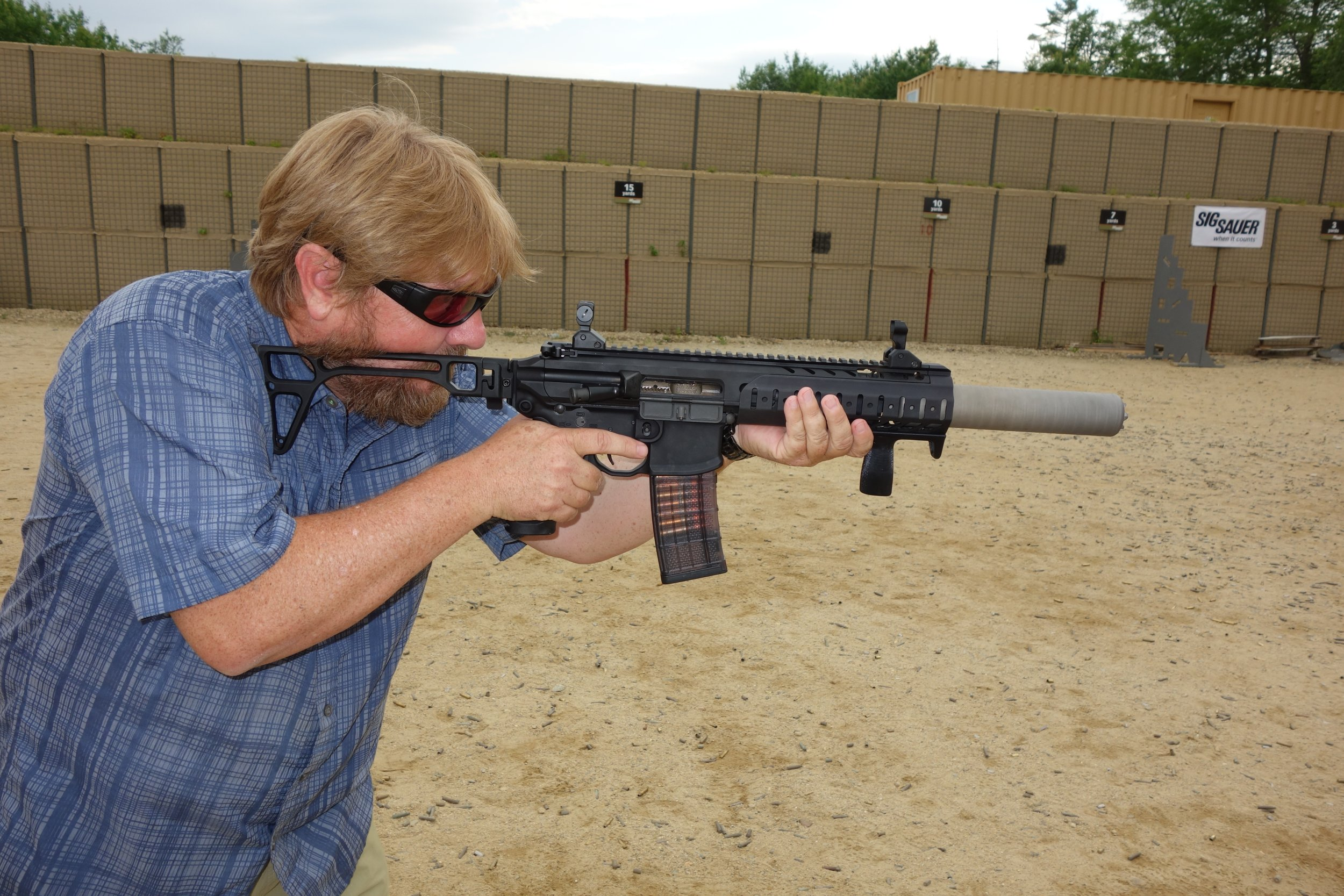 SIG SAUER SIG MCX Multi Caliber AR Assault Rifle Carbine SBR 300 Blackout 300BLK Suppressed SIG SAUER Academy New Media Writers Event 2014 David Crane DefenseReview.com DR 3 SIG MCX LVAW (Low Visibility Assault Weapon) Black Mamba Suppressed 300 Blackout (300BLK) Piston AR Assault SBR/PDW (Short Barreled Rifle/Personal Defense Weapon) Fired on Full Auto and Semi Auto with Subsonic and Supersonic Ammo During SIG SAUER New Media Writers Event (Video!)