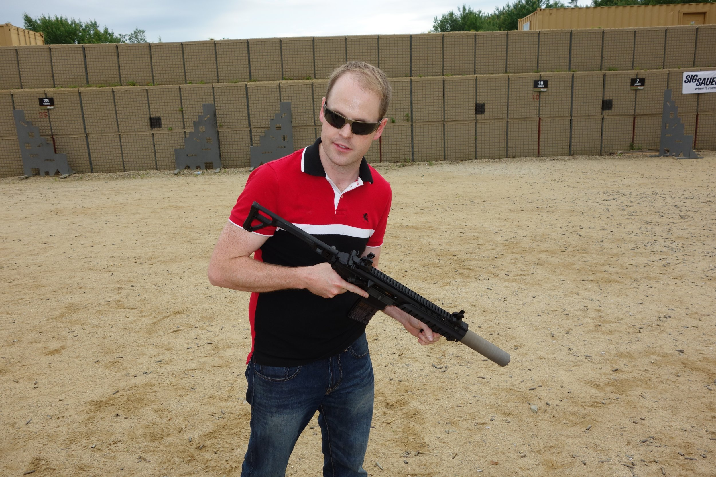 SIG SAUER SIG MCX Multi Caliber AR Assault Rifle Carbine SBR 300 Blackout 300BLK Suppressed SIG SAUER Academy New Media Writers Event 2014 David Crane DefenseReview.com DR 7 medium SIG MCX LVAW (Low Visibility Assault Weapon) Black Mamba Suppressed 300 Blackout (300BLK) Piston AR Assault SBR/PDW (Short Barreled Rifle/Personal Defense Weapon) Fired on Full Auto and Semi Auto with Subsonic and Supersonic Ammo During SIG SAUER New Media Writers Event (Video!)