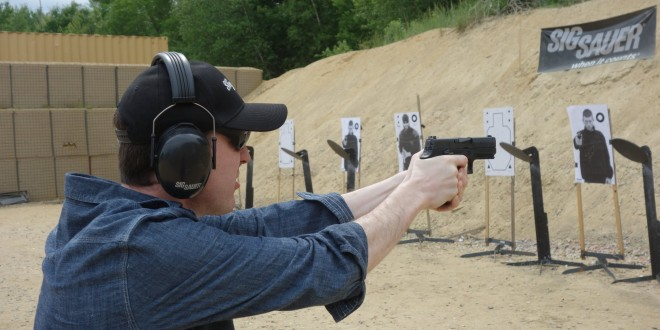 SIG SAUER SIG P320 Carry (P320C) Nitron Striker-Fired Compact Combat/Tactical Pistol and SIG P320 Full-Size (P320F) Nitron Pistol at the Range!: Shooting Impressions (Video!)