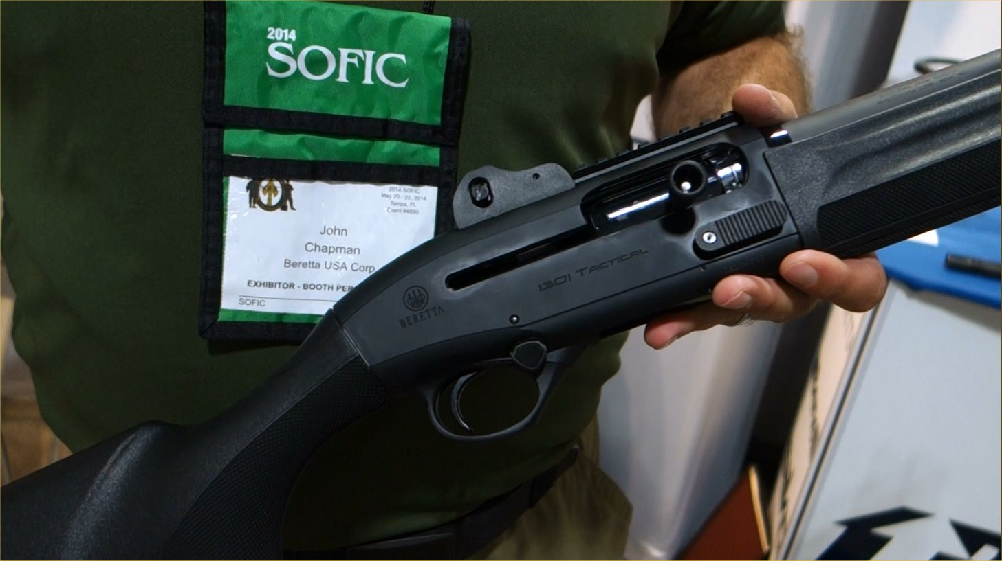 Beretta 1301 Tactical 12 Gauge Semi Auto Combat Tactical Shotgun John Chappie Chapman Beretta Defense Technologies BDT SOFIC 2014 David Crane DefenseReview.com DR 10 Beretta 1301 Tactical Gas Operated 12 Gauge Semi Auto Combat/Tactical Shotgun with Super Fast Blink Action: From Competition to Combat! (Video!)