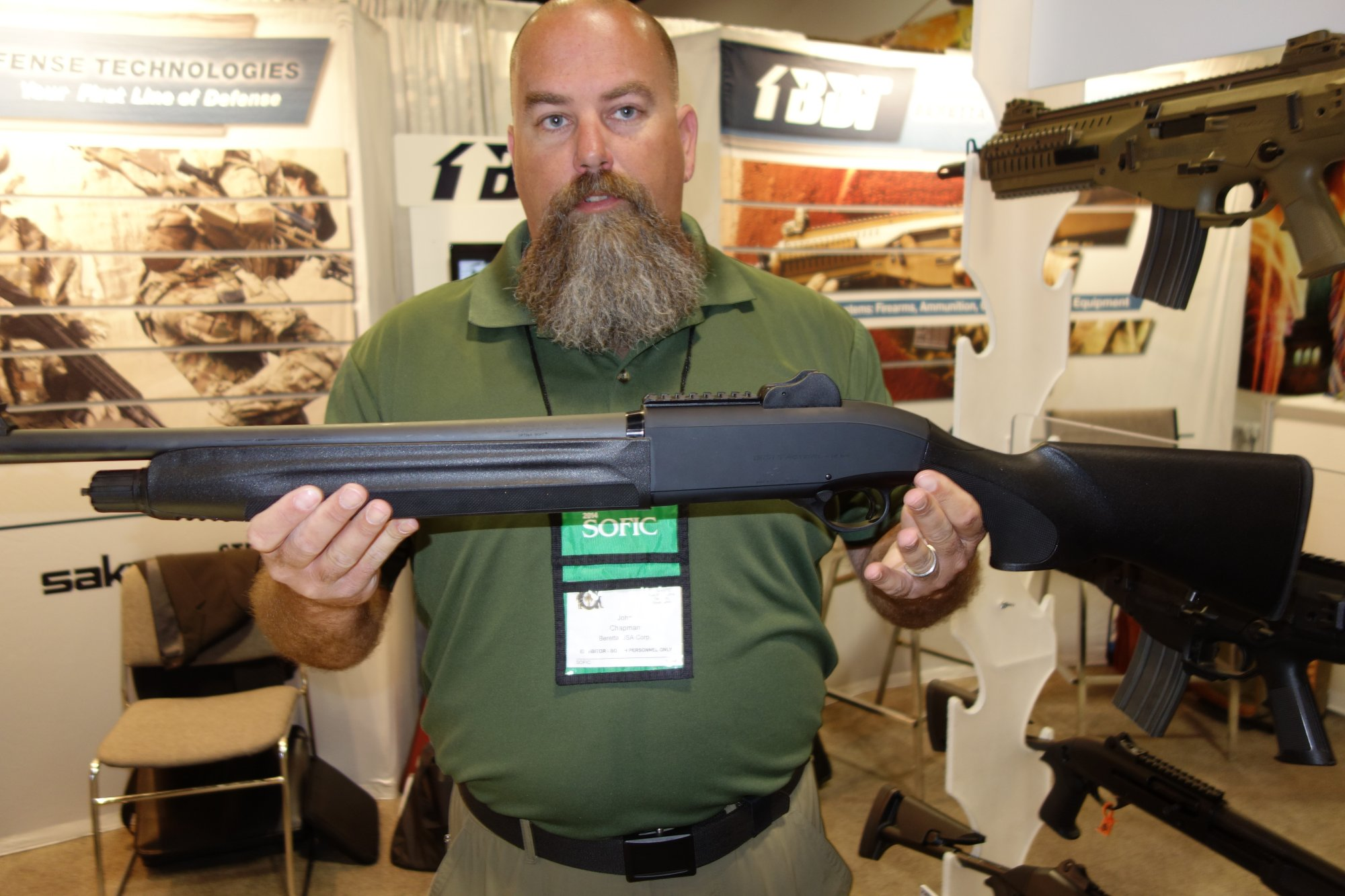 Beretta 1301 Tactical 12 Gauge Semi Auto Combat Tactical Shotgun John Chappie Chapman Beretta Defense Technologies BDT SOFIC 2014 David Crane DefenseReview.com DR 2 Beretta 1301 Tactical Gas Operated 12 Gauge Semi Auto Combat/Tactical Shotgun with Super Fast Blink Action: From Competition to Combat! (Video!)