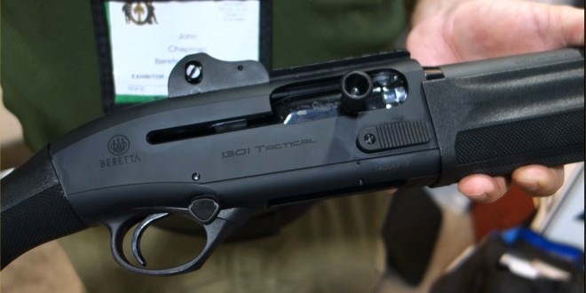 Beretta 1301 Tactical Gas-Operated 12-Gauge Semi-Auto Combat/Tactical Shotgun with Super-Fast Blink Action: From Competition to Combat! (Video!)