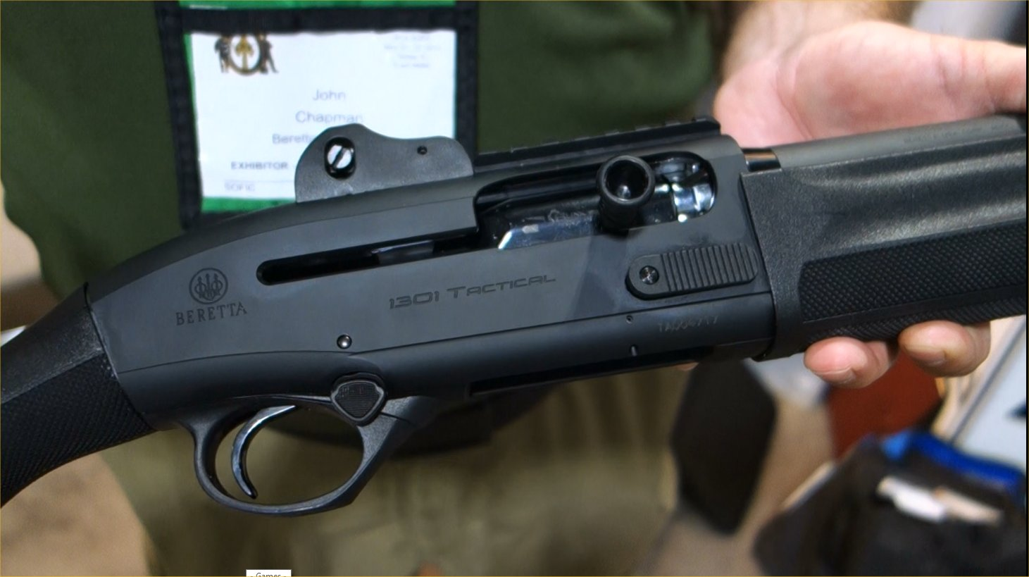 Beretta 1301 Tactical 12 Gauge Semi Auto Combat Tactical Shotgun John Chappie Chapman Beretta Defense Technologies BDT SOFIC 2014 David Crane DefenseReview.com DR 5 Beretta 1301 Tactical Gas Operated 12 Gauge Semi Auto Combat/Tactical Shotgun with Super Fast Blink Action: From Competition to Combat! (Video!)