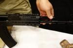 Midwest_Industries_MI_AK-SSK_KeyMod_Handguard_MIL-STD-1913_Picatinny_Rail_System_Tactical_Handguard_for_Kalashnikov_AK-47_AKM_Rifle_Carbine_SBR_Troy_Storch_SHOT_Show_2014_David_Crane_DefenseReview.com_(DR)_2