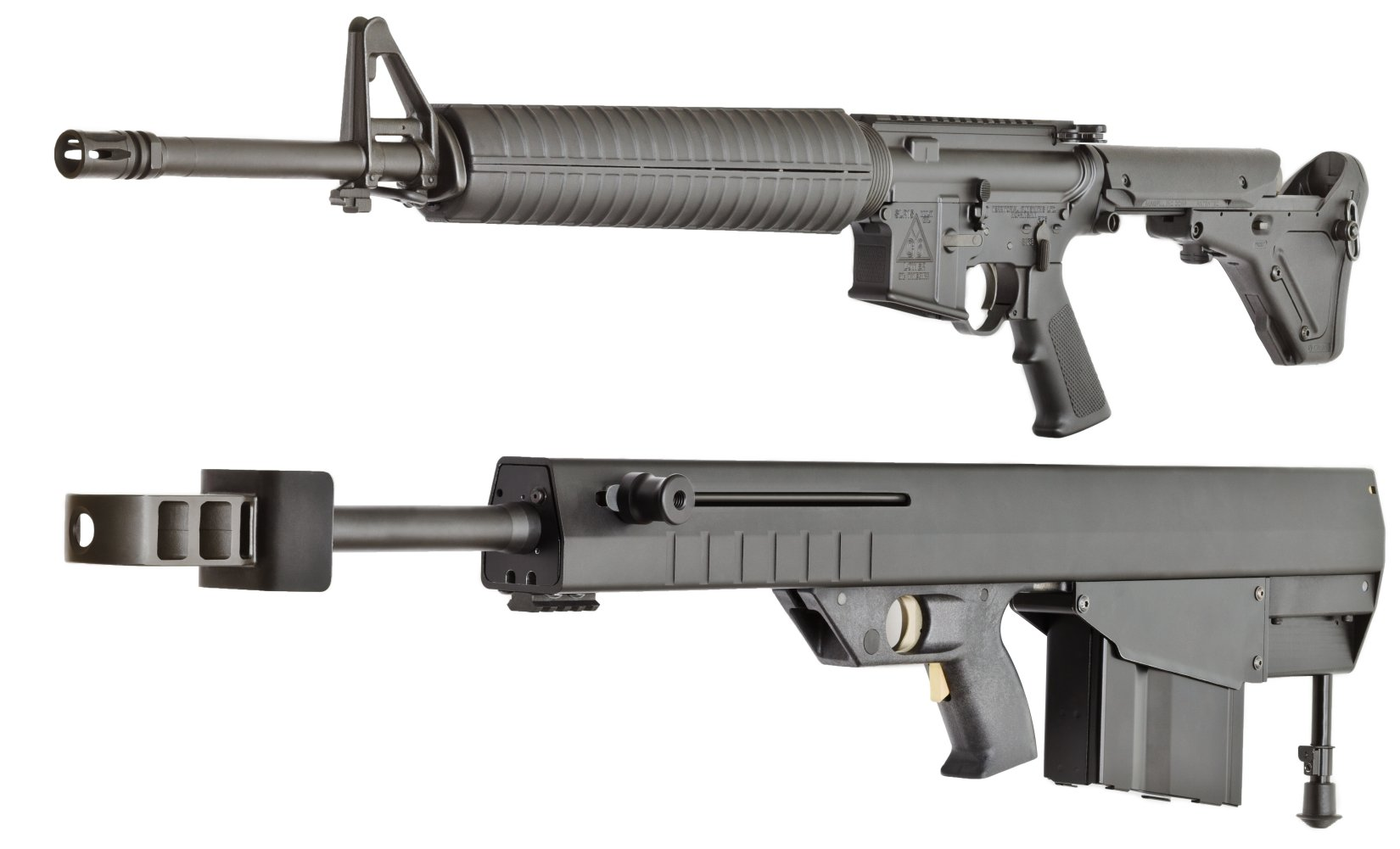 St. George Arms Leader 50 A1 Lightweight Bullpup Semi Auto .50 BMG Multi Caliber Anti Materie Sniper Rifle DefenseReview.com DR 6 St. George Arms Leader 50 A1 Ultra Lightweight, Compact Bullpup Semi Auto .50 BMG Multi Caliber Anti Materiel/Sniper Rifle is Less than 40 Inches Long and Weighs Less than 18 Pounds!: Ultimate Shoot n Scoot .50 BMG Mega Blaster for Military Special Operations Forces (SOF) and Civilian Tactical Shooters? (Photos!)