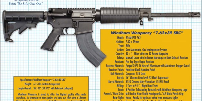Windham Weaponry 7.62×39 SRC (Model R16M4FTT-762) 16-inch 7.62x39mm Russian Tactical AR-15 Carbine