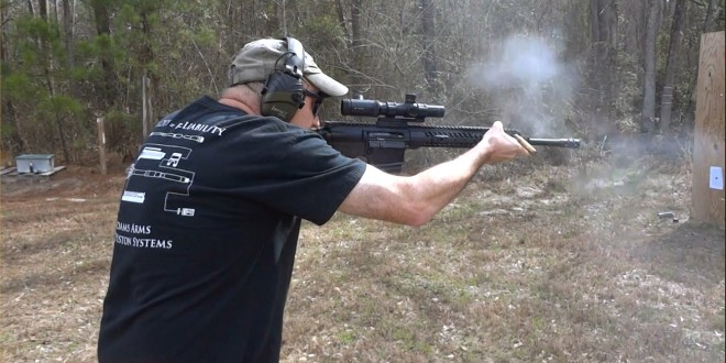 Jeff Gurwitch Conducts Speed-Shooting Drill with New Adams Arms (AA) Piston-Driven Small-Frame 7.62mm NATO/.308 Win. Patrol Battle Rifle (PBR)/Carbine/SBR at the Range! (Video!)