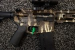 American_Defense_Manufacturing_ADM_UIC_Universal_Improved_Carbine_5.56mm_NATO_.223_Rem._Tactical_AR-15_Carbine_SBR_(Short_Barreled_Rifle)_TigerStripe_Camouflage_SHOT_Show_2015_David_Crane_DefenseReview.com_(DR)_6