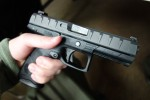 Beretta_APX_Polymer-Frame_Striker-Fired_Combat_Tactical_9mm_Pistol_for_US_Army_Modular_Handgun_System_(MHS)_Program_at_Beretta_Tactical_Summit_(BTS)_2015_4-01-15_David_Crane_DefenseReview.com_(DR)_1