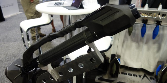DSG Technology/Mortars Inc. iMortar Ultra-Lightweight, Manpackable 60mm Mortar and Munitions Weapon System at SOFIC 2015 (Video!)