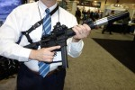 Corporate_Arms_SMG_9mm_.40_S&W_.357_SIG_.45_ACP_10mm_Submachine_Gun_with_Q-Lock_Flash_Hider_Mount_and_A-TEC_Silencer_Sound_Suppressor_SOFIC_2015_David_Crane_DefenseReview.com_(DR)_7