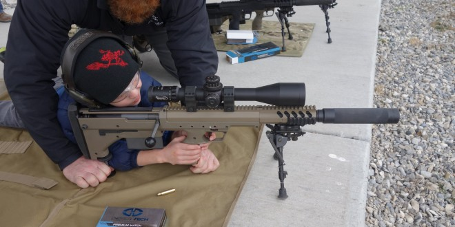 6-Year-Old Kid Gets Quick Hits with Suppressed Desert Tech DT SRS-A1 Covert (Stealth Recon Scout-A1 Covert) Bullpup Anti-Materiel/Sniper Rifle/Carbine