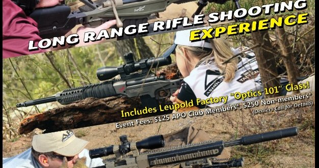 Flash: Ashbury Precision Ordnance (APO) Long-Range Rifle Shooting Experience Precision Rifle Shooting Event in Two Days!