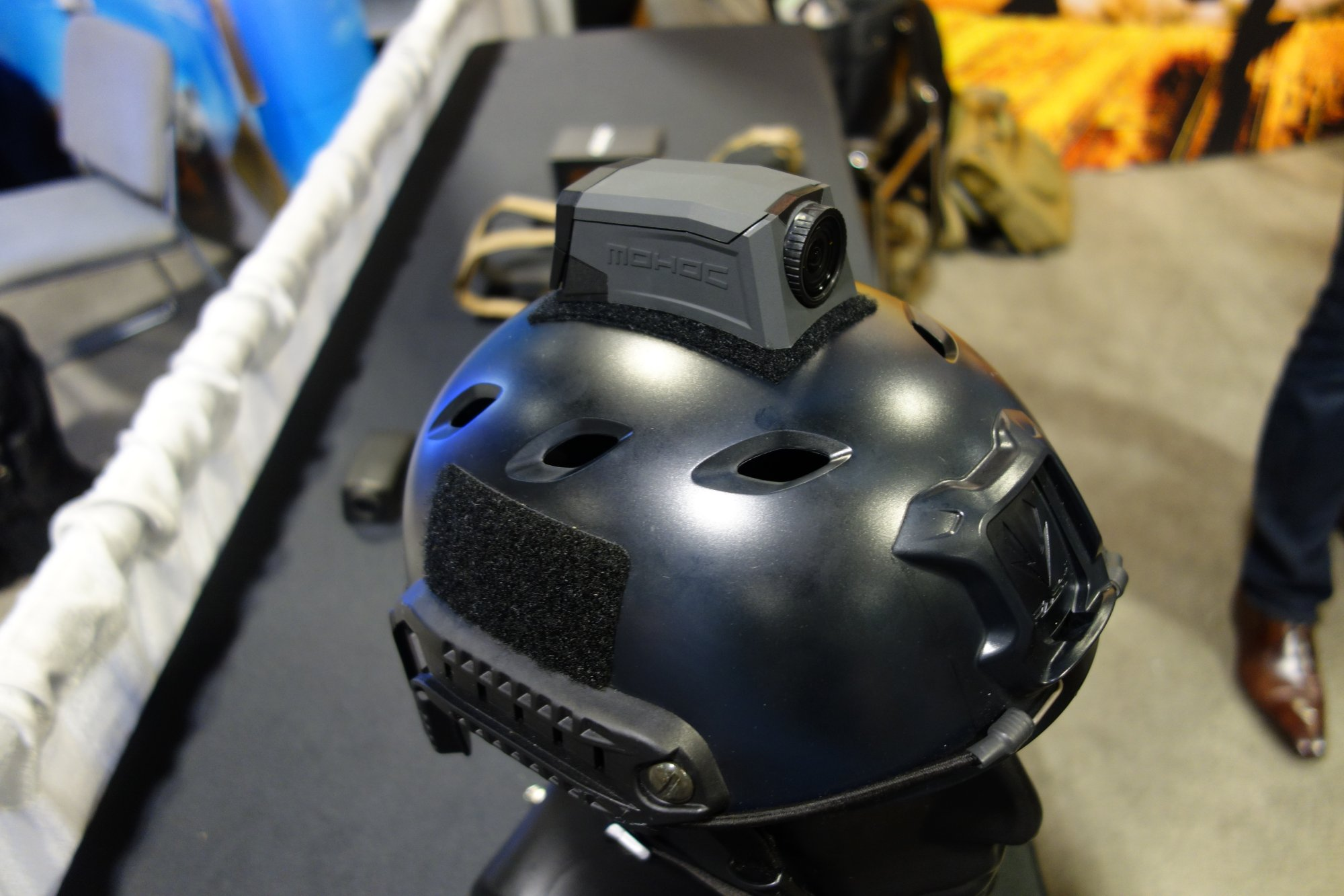 Camera System Low Profile Form Fitting Ruggedized And Waterproof Helmet Mounted Provides Durable HD Video Recording 1080P 60 FPM Capability