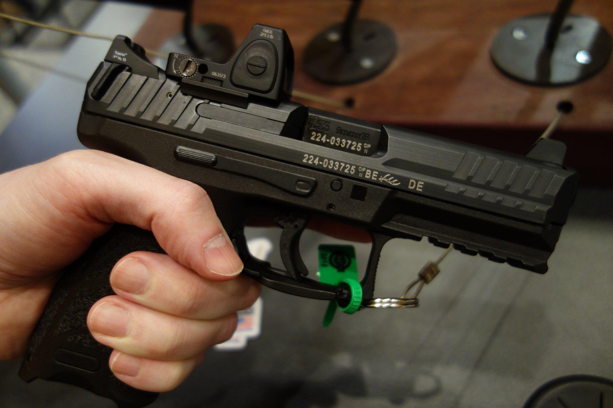 Optically-Enhanced, Silencer Ready Pistols with Suppressor