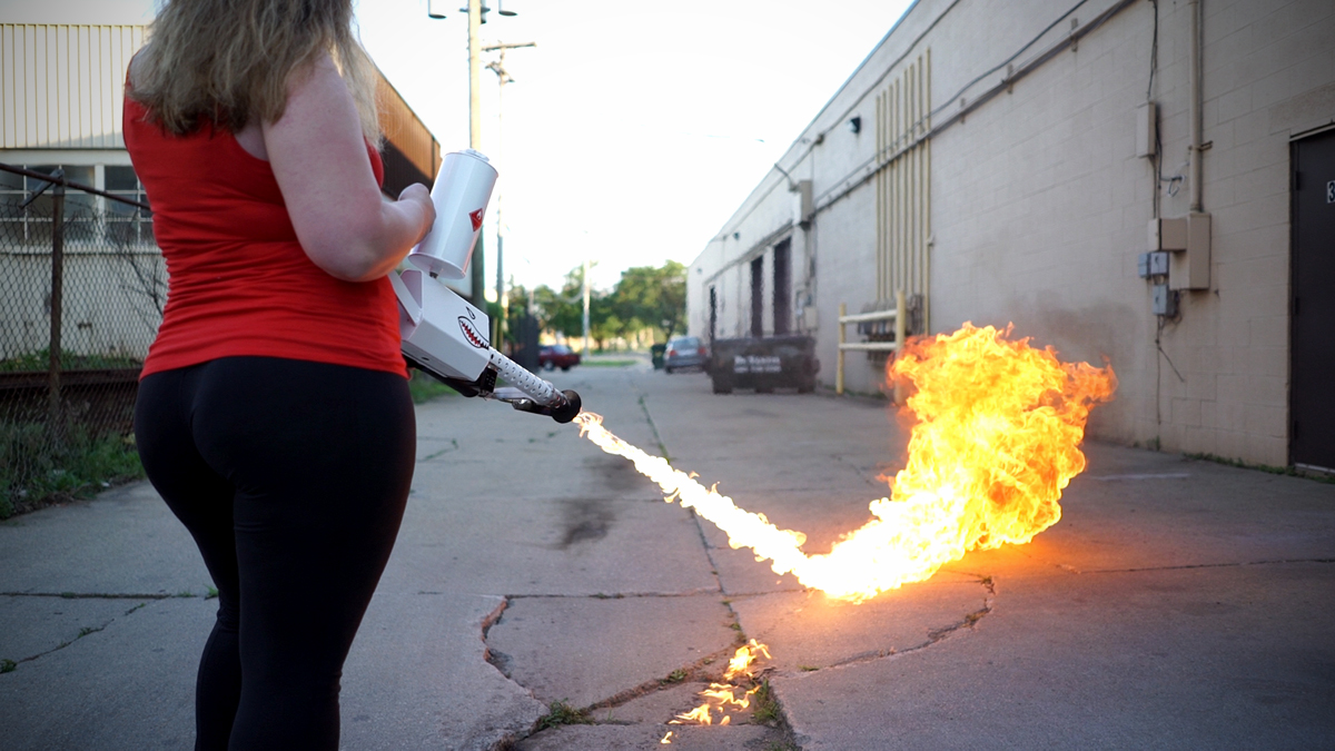 XM42 Handheld Flamethrower: Industrial Art with Flame