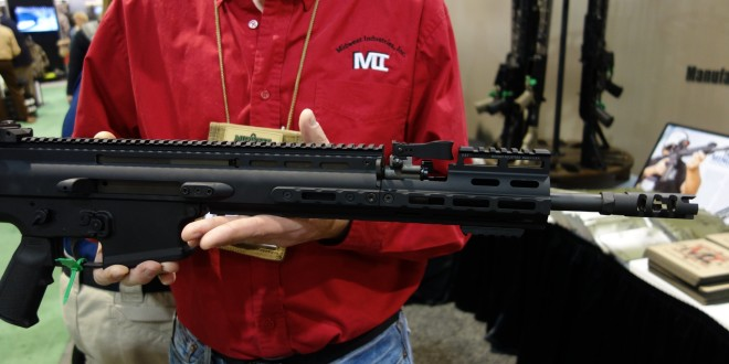 Midwest Industries MI SCAR Rail Extension M-LOK Compatible Tactical Handguard/Rail Extension with Front Sight/BUIS (Back Up Iron Sight) Cutout for FN SCAR 16 and FN SCAR 17! (Video!)