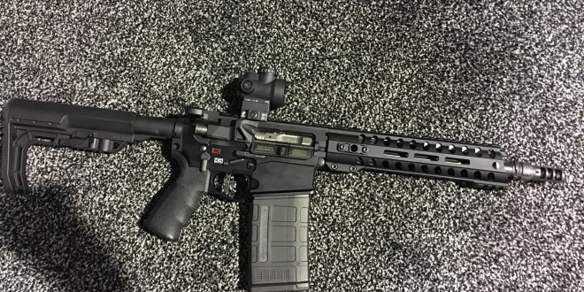 Suppressed Patriot Ordnance Factory (POF-USA) Revolution 10.5″ Tactical Piston AR SBR (Short Barreled Rifle) Fires Subsonic 7.62x51mm NATO/.308 Win. Ammo Reliably at the Range! (Video!)