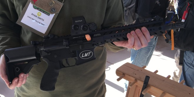 LMT Defense LM8PDW556 / LM8PDW300 PDW (formerly the 'Compressor'): 10.5-Inch-Barreled 5.56mm NATO/300BLK Tactical AR-15 SBR/PDW (Short Barreled Rifle/Personal Defense Weapon) with Modified/Shortened SOPMOD Stock (Buttstock) and Weighted Bolt Carrier Group (BCG)! (Video!)