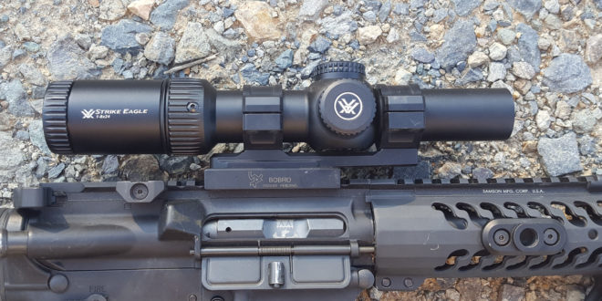 Vortex Optics Strike Eagle 1-8×24 Riflescope with AR-BDC2 Reticle (30mm Tube) for Very Fast Shooting up Close, and out to Distance! (Video!)