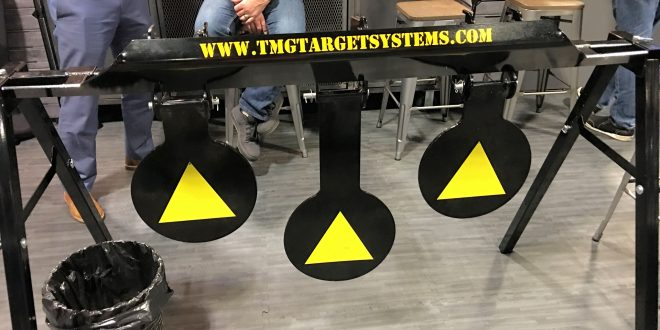TMG (Threat Mitigation Group) Steel Target Systems with Stand-Alone Mechanical Reset System: Just Shoot the Center Target to Reset and Keep Shooting!