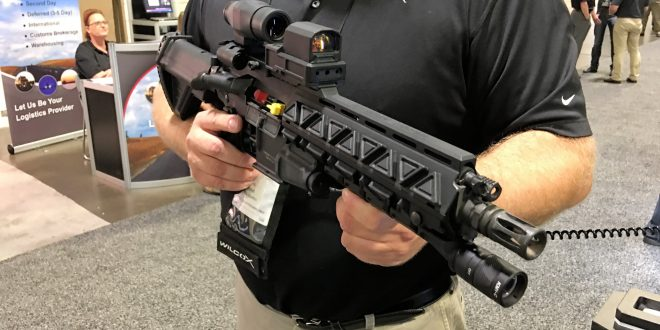 Wilcox Industries Fusion AMP Rail Powered M4/M4A1/AR-15 Carbine/SBR Rail System with Super-Slick/Sleek, Minimalist Wilcox BOSS 300 (or, 300 BOSS) Black Out Sighting System All-In-One Red Dot Sight Combat Optic with Visible/IR Laser Aimer/Illuminator! (Videos!)