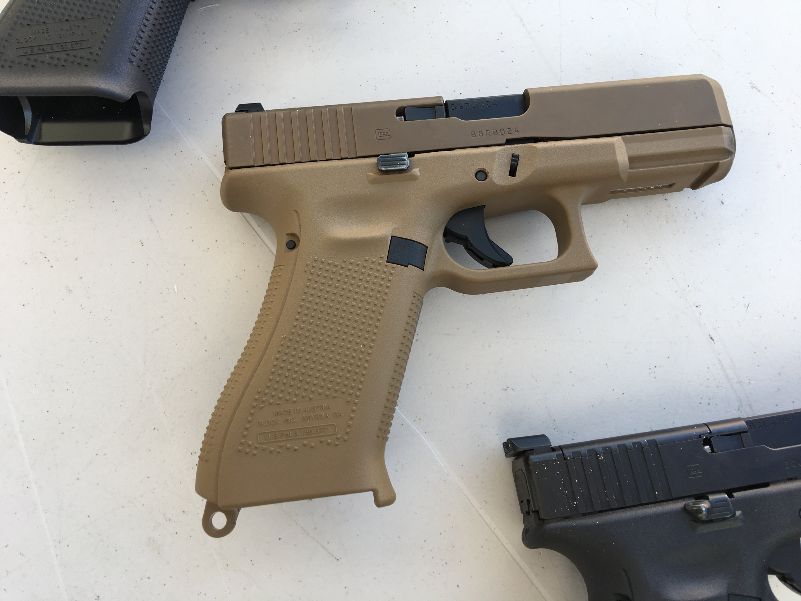 Glock 19X (G19X), Glock 19 (G19) Gen5, Glock 17 (G17) Gen5, and