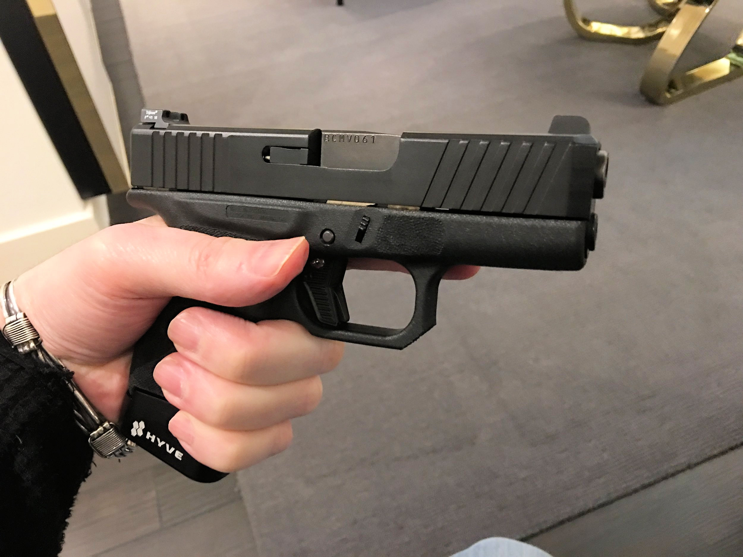 Nous Defions Arsenal Democracy NDAD Blackside Custom Glock
