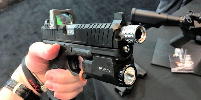 Lantac Razorback Complete Custom Glock 17 (G17) and Glock 19 (G19) Combat/Tactical Pistol and Complete Slide Packages with Suppressor-Ready Threaded Barrel and Trijicon RMR Red Dot Sight Combat Optic Installed!