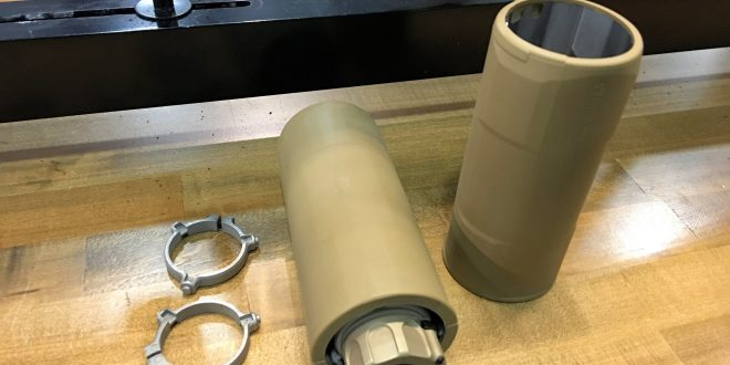 Magpul Suppressor Cover – 5.5″ for Round 5.56mm NATO Muzzle Cans (Silencers/Sound Suppressors) during Combat Ops: Lowers Outer Suppressor Heat and Thermal Signature! (Video!)