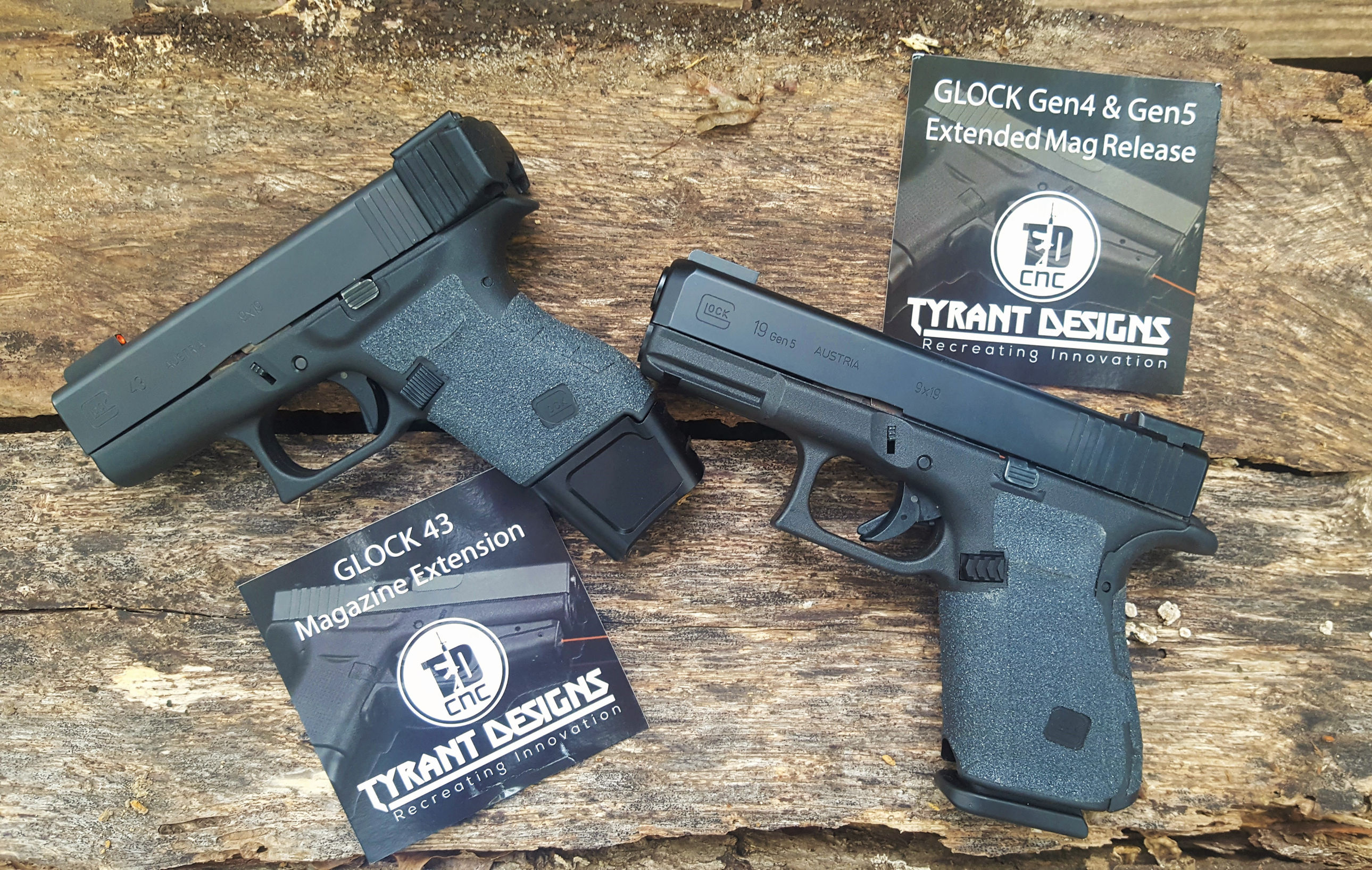 Tyrant Designs Glock 43 3 Mag Magazine Extension And Gen4 And
