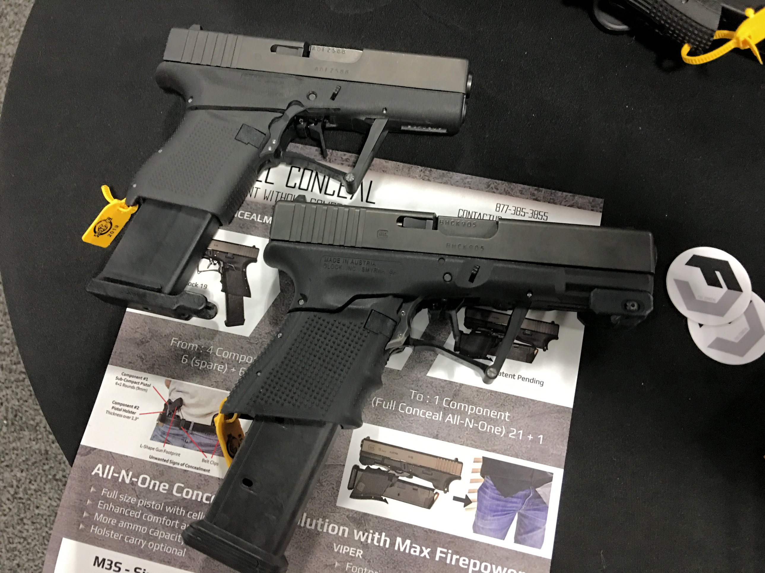 Full Conceal FC M3D (G19) and FC M3S (G43): Fantastic Folding Glock