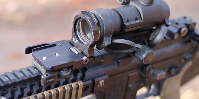 Alpha Tarac Optical Accessory: Flip-Up Lens Doubles Your Red Dot Combat Optic's Point of Impact! (Video!)