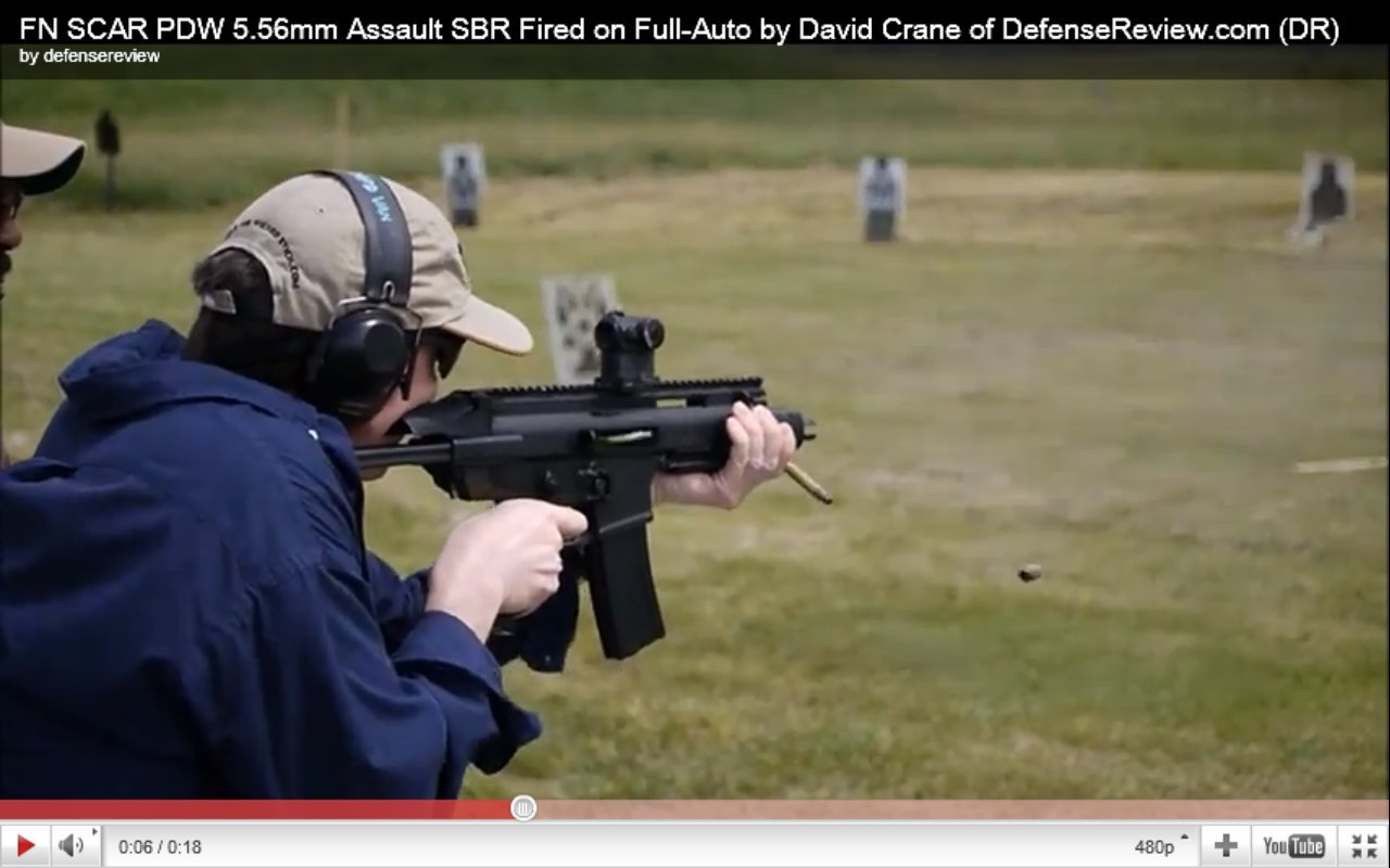 <!--:en-->DR Action Video! More FN SCAR PDW (Personal Defense Weapon) Prototype Live Fire Videos: Left-Side View Shows Reciprocating Charging Handle Cycling Back and Forth <!--:-->