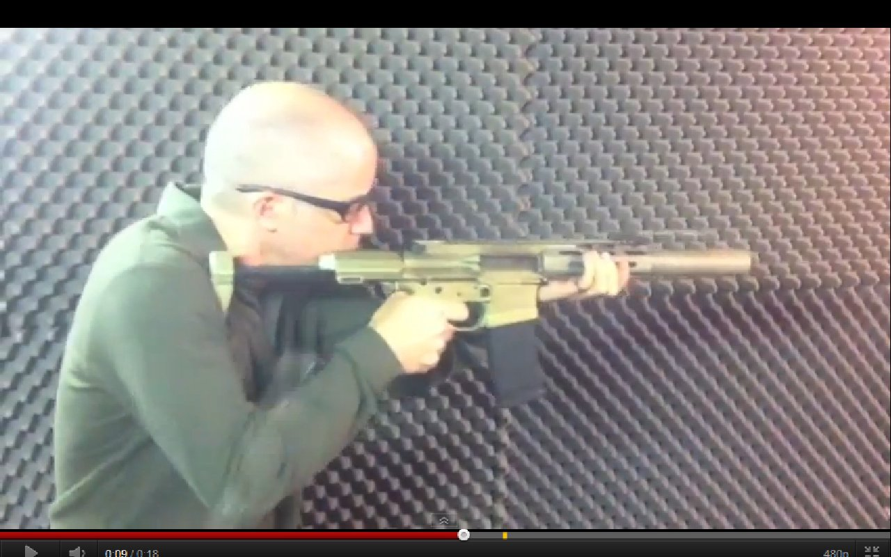 300 AAC Blackout (300BLK / 7.62x35mm) LVAW (Low-Visibility Assault Weapon) Honey Badger Suppressed Tactical AR (AR-15) SBR (Short Barreled Rifle)/Sub-Carbine Demo Video, and 300 BLK SIG516 (also written SIG 516) Heads-Up