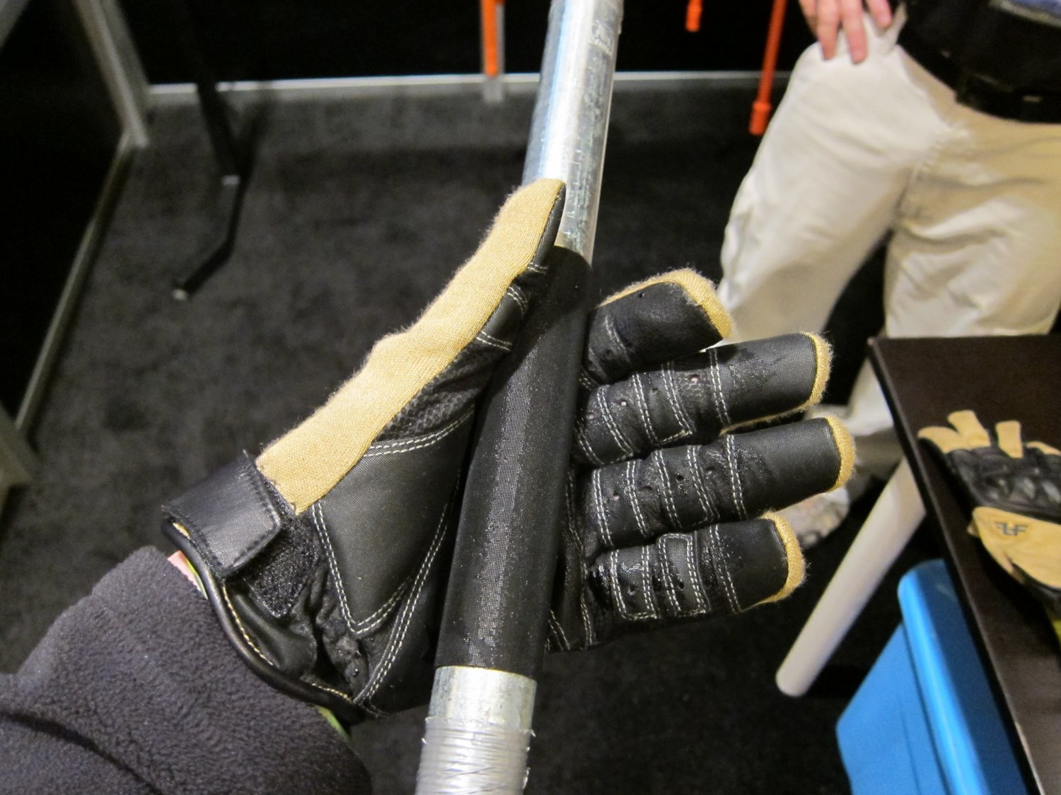 Line Of Fire (LOF) Technology Enhanced Grip System (TEGS)-Integrated Tactical Gear Displaying at SHOT Show 2012