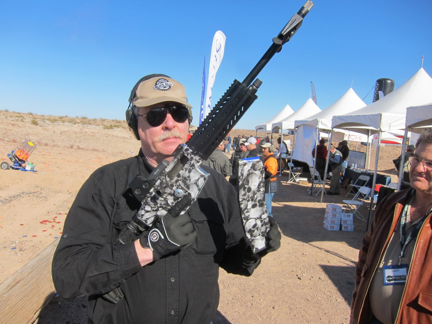 """RAAC Akdal MKA 1919 Shotgun """"Super-Tuned"""" by Firebird Precision and Run at the Range at SHOT Show 2012 Media Day: Mag-Fed, Gas-Operated Semi-Auto 12-Gauge Tactical """"AR-15 Shotgun"""" with 10-Rounds of 12ga Firepower for Martial Combat or Competition! (Video!)"""